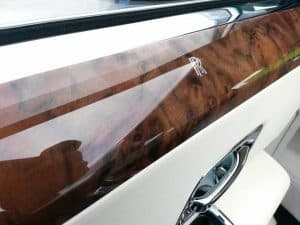 Rolls Royce interior wood