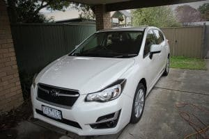 Subaru Impreza in white with paint protection in Melbourne Paint Protection Melbourne image 1