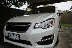 Subaru Impreza in white with paint protection in Melbourne Paint Protection Melbourne image 2