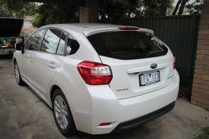 Subaru Impreza in white with paint protection in Melbourne Paint Protection Melbourne image 4
