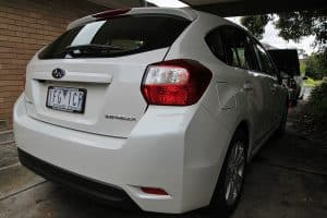 Subaru Impreza in white with paint protection in Melbourne Paint Protection Melbourne image 5