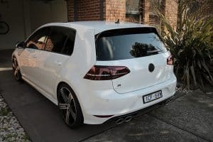 Volkswagen Golf R in White - paint protection melbourne Paint Protection Melbourne image 4