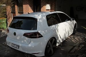 Volkswagen Golf R in White - paint protection melbourne Paint Protection Melbourne image 6